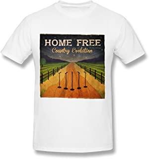 RZF Men's Home Free Country Evolution Deluxe T-Shirt- White