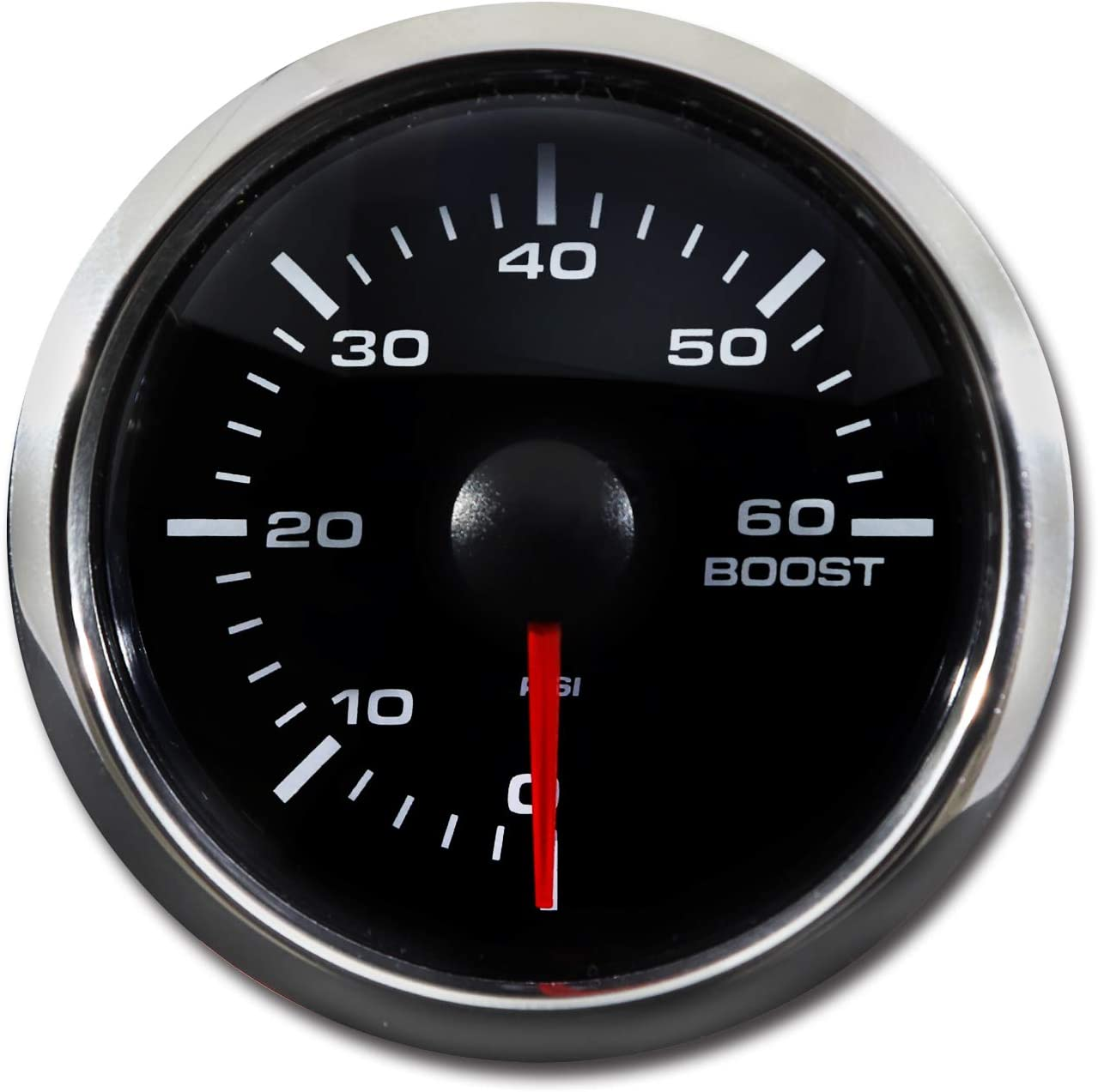 White LED Digital 60 PSI 配送員設置送料無料 Boost Pre Kit Gauge 国内在庫 Includes Electronic