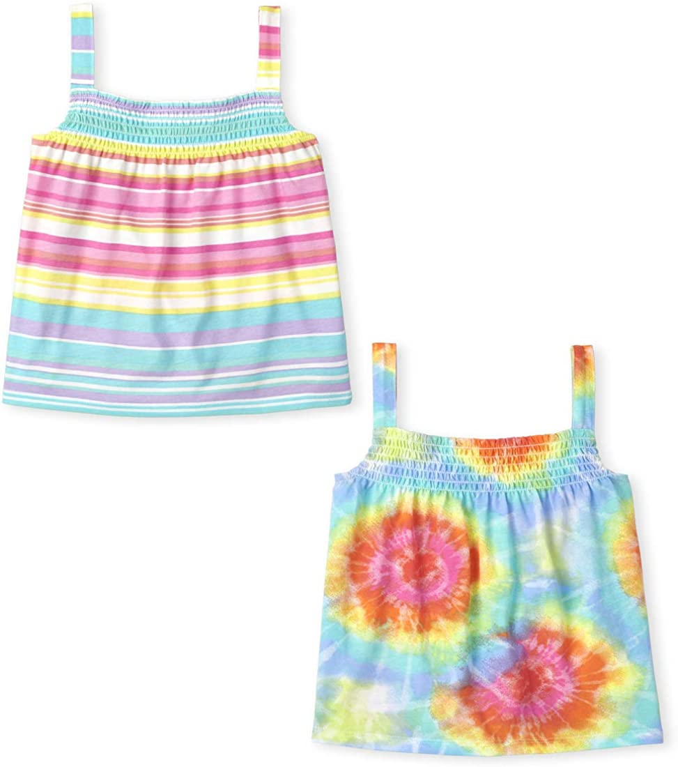 The Children's Place Girls Rainbow Smocked Top Print Max 59% OFF Limited time sale 2-Pack Tank