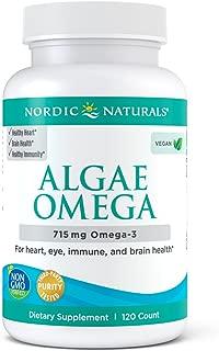 Nordic Naturals Algae Omega - Vegetarian Omega-3 Supplement for Eye Health, Heart Health, and Optimal Wellness*, 120 Count