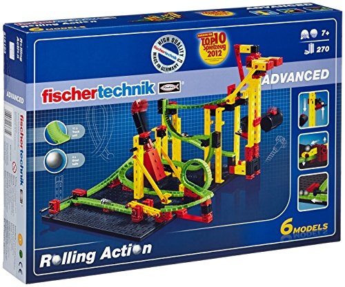 fischertechnik Rolling Action - Juego para Construir un Circuito de canicas