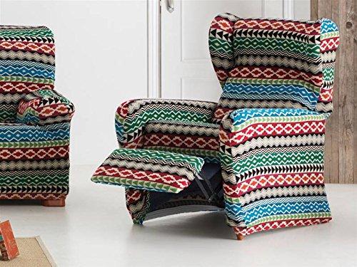 Lanovenanube Eysa - Funda sillón Kilim Relax Color Azul C03