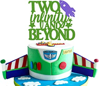 Two Infinity and Beyond Cake topper Light year Toy Inspired Story 2nd Buzz Birthday Party Supplies Decorations Photo Prop ...