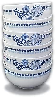 Doublewhale Bowls Set, 26 Ounces Soup Bowls Sets Ceramic Cereal Rice and Salad Bowls (Set of 6)