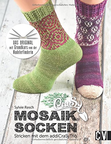 CraSy Mosaik – Socken: Stricken mit dem addiCraSyTrio