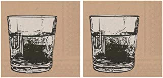 Scout and Company Neat Liquor Brown Rocks Cocktail Napkins - Cute Designer Cocktail Napkins 3-ply, 40 count - For Barware,...