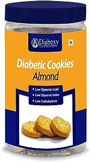 Diabexy Diabetic Food Products Sugar Free Almond Cookies- 250g: Grocery & Gourmet Foods