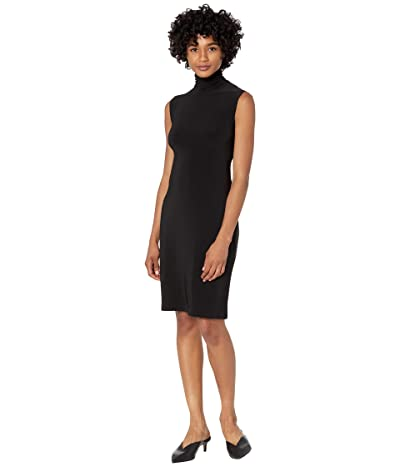 KAMALIKULTURE by Norma Kamali Slim Fit Sleeveless Turtle Dress To Knee
