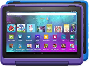 """Introducing Fire HD 10 Kids Pro tablet 2-pack, 10.1"""", 1080p Full HD, ages 6–12, 32 GB, Doodle/Intergalactic"""