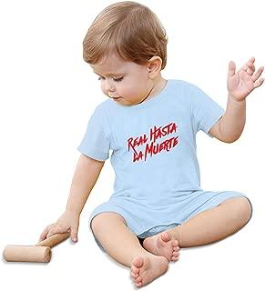 Real Hasta La Muerte Logo Baby Climbing Clothing Baby Short Sleeve Garment Unisex Design Looks Great On Newborn Black