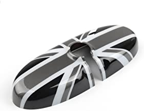 Areyourshop UK Flag Checkered Rear View Mirror Cover Housing for Mini Cooper R55 R56 R57