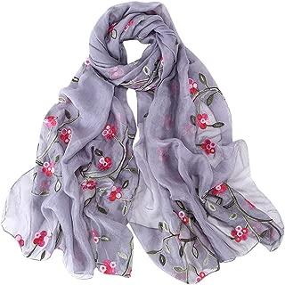 Scarfs for Women Lightweight Print Floral Pattern Scarf Chiffon Scarf Hijab Wrap Shawls Headband Muslim Hijabs Scarf
