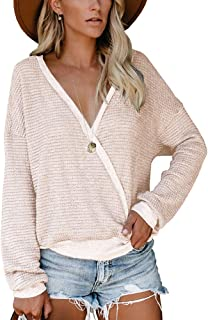 loose plunge sweater