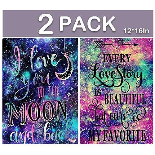 "BiBeGoi 2 Pack Diamond Painting Kits for Adults,Love Beautiful DIY Full Round Diamond Art Crystal Rhinestone Canvas Embroidery for Family Game,Painting Picture for Wall Decor 12"" x 16"""