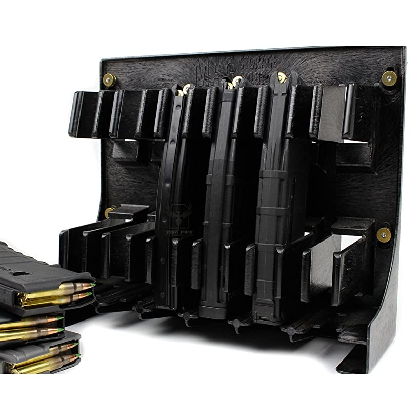 Neodymium MAGNET KIT for Black AR-15 Magholder by Mag Storage Solutions - Extremely Strong Rare Earth Magnets [Magazine Holder is NOT Included]