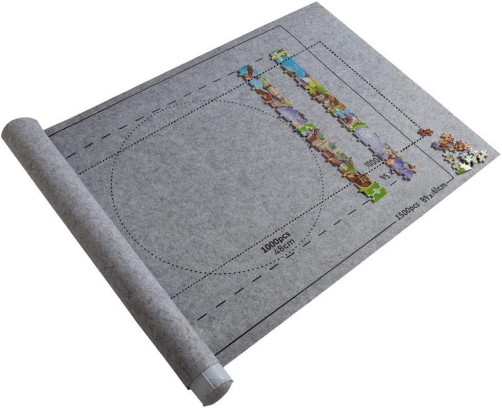 OFFicial store Fresno Mall Yowein Felt Puzzle Mat Roll Jigsaw Up Ma Storage