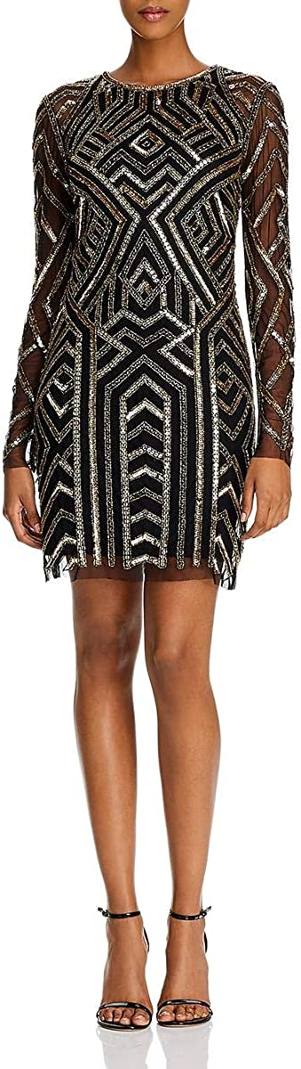 gift Aidan by Mattox Womens Sequined All items free shipping Dress Beaded Cocktail