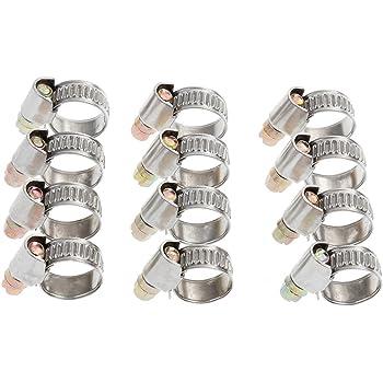 Universal Mini Schlauchklemmen-Sortiment Spannbereich 17-19 mm Set Rundziehende Schraubschellen-Set Leitungsschellen-Satz Schlauchschellen//Klemmschellen-Satz 10-tlg.