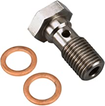 Universal Stainless Steel M10x1.25 Metric Thread Banjo Bolts Brake Fitting Adapter with M10 Copper Washers, Single Banjo Bolt 24mm Length