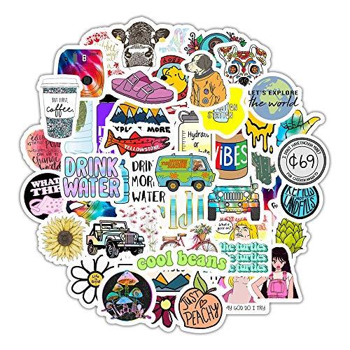 YOUYOU Vsco Ins Style Sticker Anime para Laptop Case Car Skateboard Motocicleta Niña para Niños Juguetes Cool Animal Sticker 50pcs