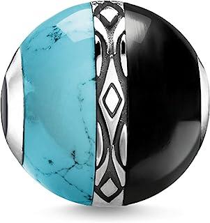 Thomas Sabo Bead ornement turquoise & noir femme Argent sterling 925 noirci K0324-878-7