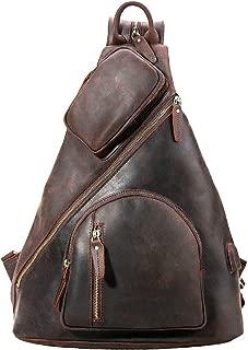 Men's Leather Messenger Chest Bag Vintage 13