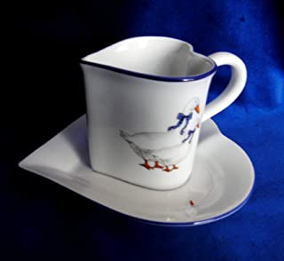 Geese, Czech porcelain, Bone China Porcelain (Cup & Saucer