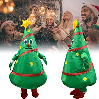 CHERRYSONG 190cm Inflatable Blow up Full Body Suit Christmas Tree Jumpsuit Costume,Funny Inflatable Costume Christmas Tree Clothes Cosplay Props