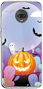 Compatible with Moto Case Soft Silicone Cover Funny Halloween Phone Pr...