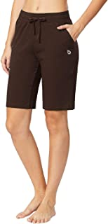Women's Active Yoga Bermuda Shorts Lounge Gym Workout Long Shorts with Pockets