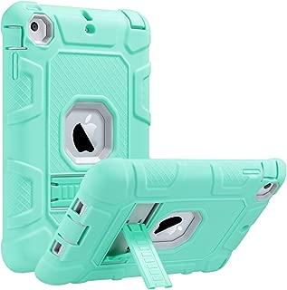 ULAK iPad Mini Case, iPad Mini 2 Case, iPad Mini 3 Case, iPad Mini Retina Case, Three Layer Heavy Duty Shockproof Protective Case for iPad Mini, iPad Mini 2, iPad Mini 3 with Kickstand (Green/Grey)