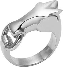 sterling silver horse hoof ring