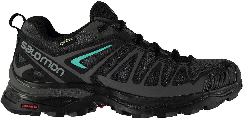 Salomon XUltra XUltra XUltra 3 Prime GTX Walking skor kvinnor grå  svart Hiking Treking Boots  rättvisa priser