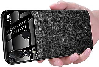 Huawei Nova 4 Case, Ikwcase Business Slim Litchi Skin Anti-slip TPU Bumper Hybrid Glass Lens Protective Case Cover for Huawei Nova 4 Black