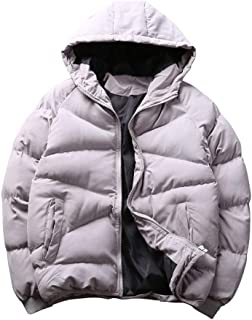 Men's Down Jacket Windproof Hooded Warm Parka Winter Outdoor Down Coat