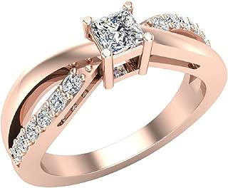 Infinity Shank Promise Diamond Ring 14K Gold 0.50 Ctw (I,I1)