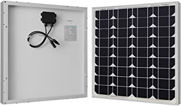 Renogy 50W 12V Monocrystalline Solar Panel High Efficiency Module PV Power for Battery Charging Boat, Caravan, RV and Any Other Off Grid Applications, 50 Watts