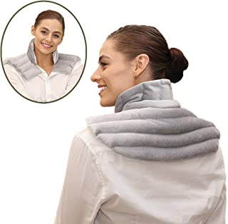 Heating Pad Solutions - Microwavable Heating Pad for Neck and Shoulder | Large Heating Pad for Natural Pain Relief | Reusable Heat Pack for Sore Neck, Aching Shoulders, Upper Back Pain and Muscle Pain
