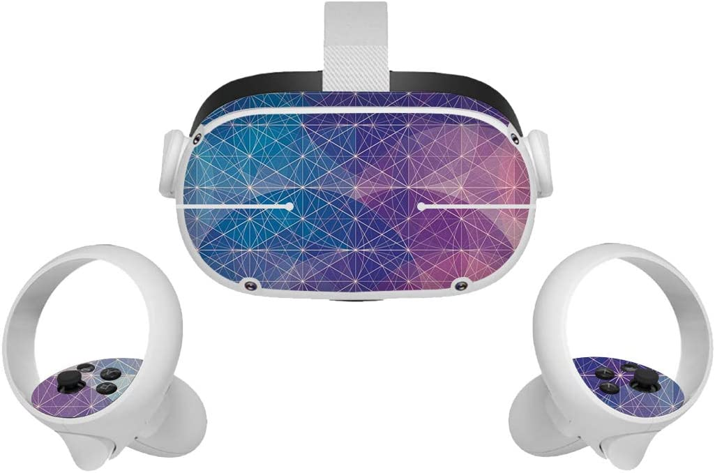 Dees Stickers Skin for Oculus Quest 2,Unique Vinyl Decal Skin for VR Headset and Controller, Virtual Reality Protective Accessories, Easy to Apply, Remove, and Change Styles.