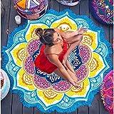 GHFCHN Yogamatte Indische Lotus Mandala Runde Decke Hippie Hippie Strand Tapisserie Yoga Mat Tabelle Strand Deck Picknickdecke