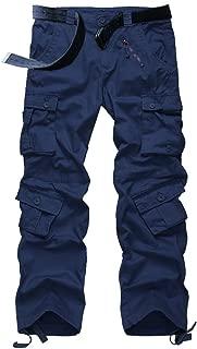 Mens Cargo Work Casual Pants, BDU Tactica Camo Military Army Black Wild Combat Pants for Men
