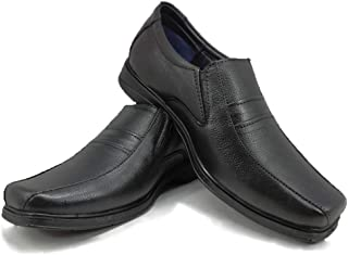 CHAPMAN Official Formal School Shoes Leather Slip On Look Formal Shoes