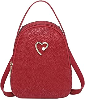 LANGMAN Small Backpack for Women Fashion Shoulder Handbags Ladies Backpack Purse (Red)