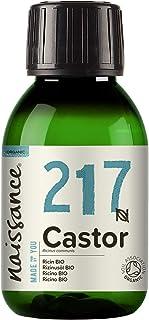 Naissance Organic Cold Pressed Castor Oil (nr. 217) 100ml - Puur, Gecertificeerd Biologisch, Ongeraffineerd, Veganistisch,...