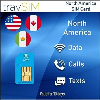Tarjeta SIM T-Mobile para EE.UU MOSTSIM Canad/á y M/éxico 58 D/ías Datos a Alta Velocidad y Llamadas//Mensajes de Texto Ilimitados