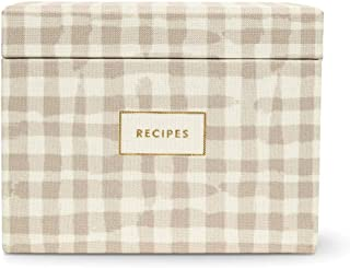 Kate Spade New York Recipe Box with 40 Double Sided Recipe Cards, Gingham