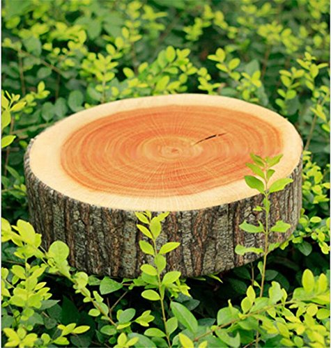 LnLyin 1 pcs Home Garden Camping Cylinder Woods Design Log Soft Plush Cushion Pillow Nature