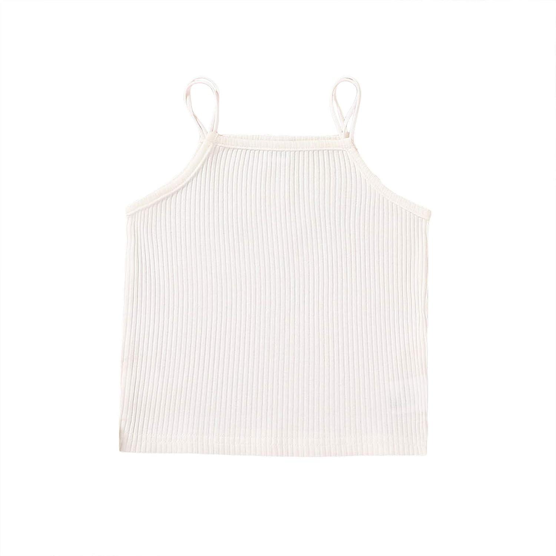 Toddler Infant Baby Girl Opening large release sale Summer Ribbed Ha Plain Max 61% OFF Basic Sleeveless