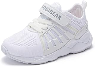 hot sale online c5f16 96e5e HOBIBEAR Kids Breathable Knit Sneakers Lightweight Mesh Athletic Running  Shoes
