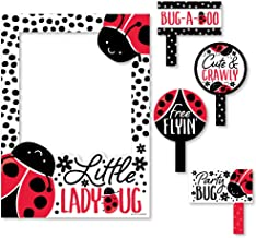 Big Dot of Happiness Happy Little Ladybug - Baby Shower or Birthday Party Selfie Photo Booth Picture Frame and Props - Printed on Sturdy Material